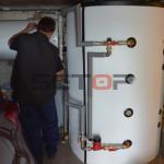 Akumulační nádoba kotel Atmos montáž
