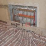 Podlahové topení RD Vyškov, Lhota