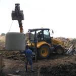 Inženýrské sítě Blažovice u Brna, pokládka kanalizace1