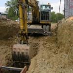 Inženýrské sítě Mikulov, pokládka kanalizace