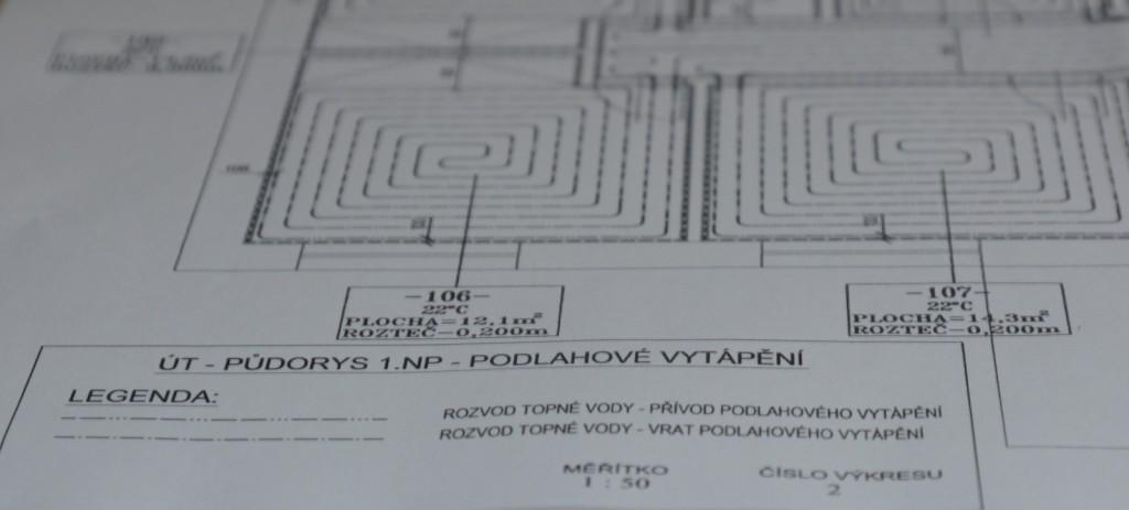 Projekt podlahové topení SETOP 3